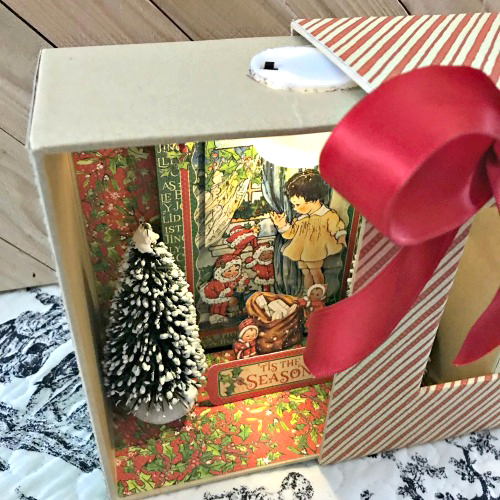 Christmas Diorama Shadowbox by Shellye McDaniel for Scrapbook Adhesives by 3L Christmas Inspiration Week with Graphic 45