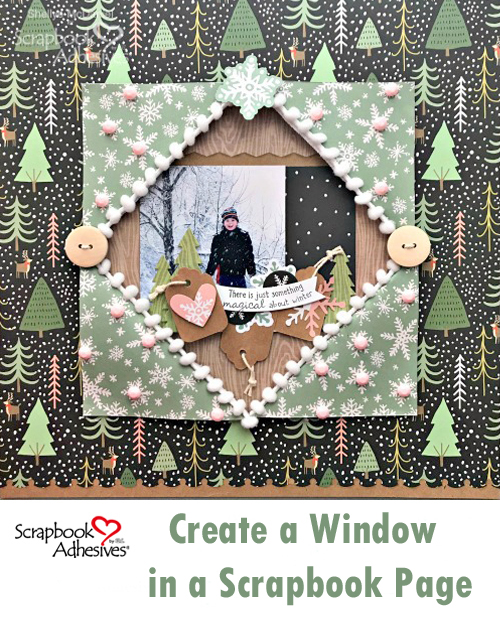 Create a Winter Window Layout by Shellye McDaniel for Scrapbook Adhesives by 3L Pinterest