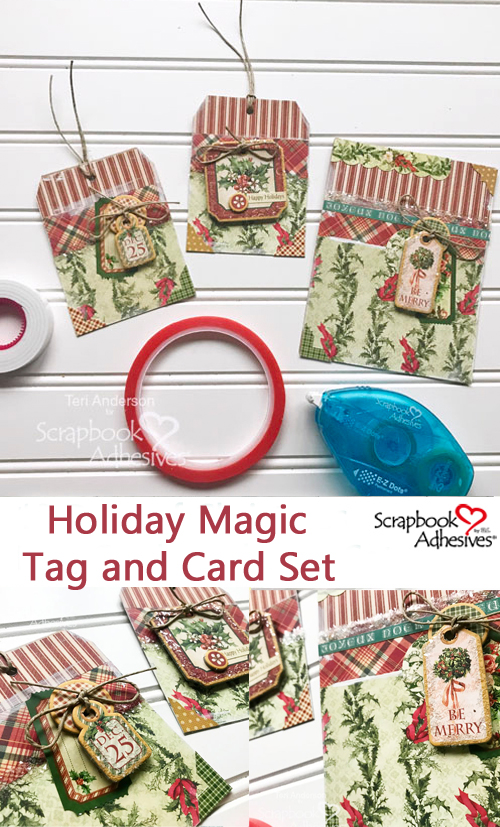 Holiday Magic Tag and Card Set by Teri Anderson for Scrapbook Adhesives by 3L Christmas Inspiration Week with Graphic 45 Pinterest