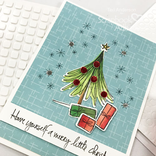 Foiled Christmas Tree Card by Teri Anderson for Scrapbook Adhesives by 3L
