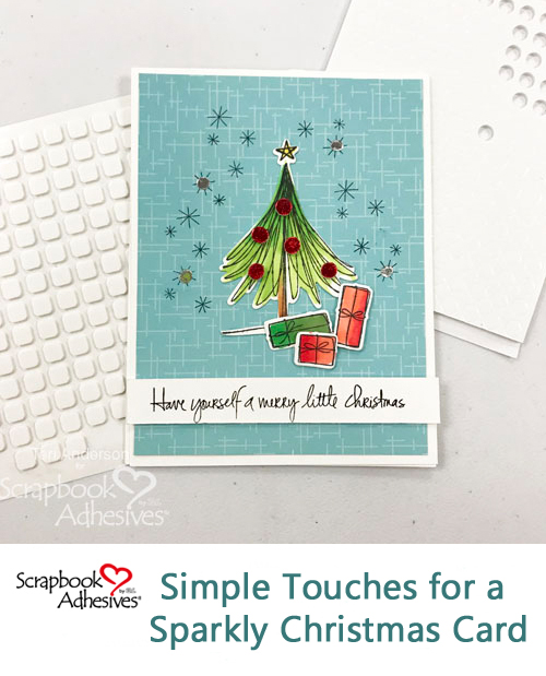 Foiled Christmas Tree Card by Teri Anderson for Scrapbook Adhesives by 3L Pinterest
