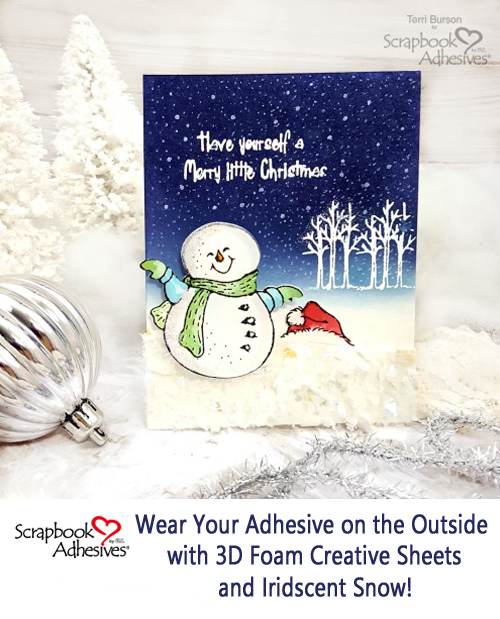Snow Flurry Card by Terri Burson for Scrapbook Adhesives by 3L Pinterest