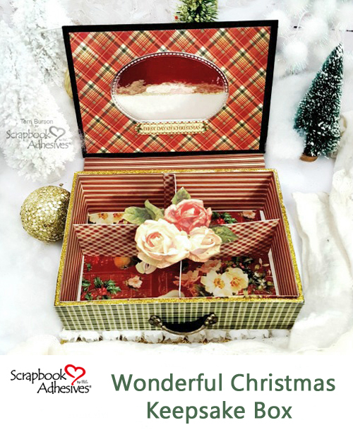 Wonderful Christmas Keepsake Box by Terri Burson for Scrapbook Adhesives by 3L Christmas Inspiration Week with Graphic 45 Pinterest
