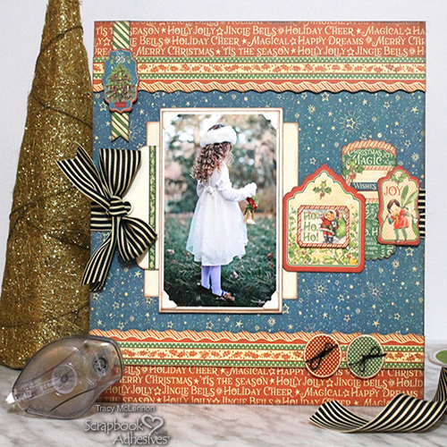 A Keepsake Holiday Scrapbook Page by Tracy McLennon for Scrapbook Adhesives by 3L Christmas Inspiration Week with Graphic 45