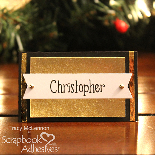 Quick and Easy Christmas Place Cards by Tracy McLennon for Scrapbook Adhesives by 3L
