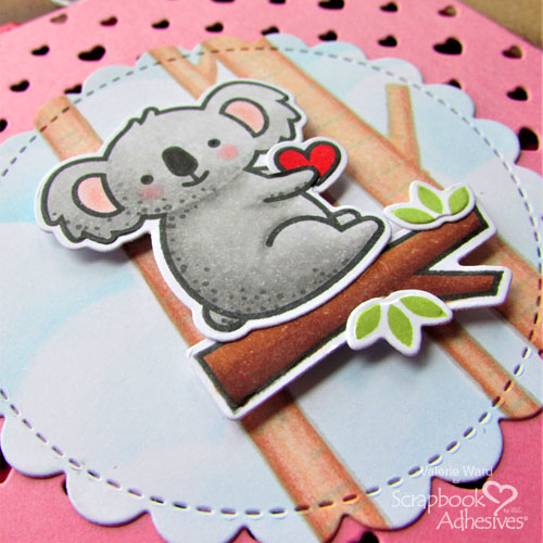 Koala Valentine's Day Card by Valerie Ward for Scrapbook Adhesives by 3L