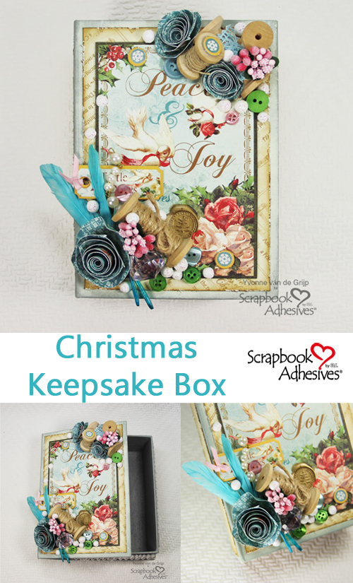 Christmas Keepsake Box by Yvonne van de Grijp for Scrapbook Adhesives by 3L Christmas Inspiration Week with Graphic 45 Pinterest