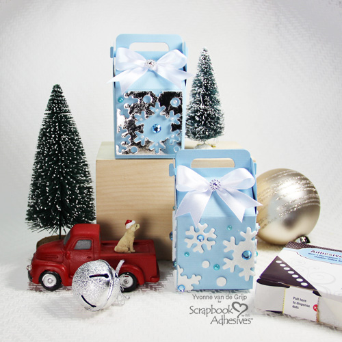 The Positive and Negative of Christmas Gift Boxes by Yvonne van de Grijp for Scrapbook Adhesives by 3L