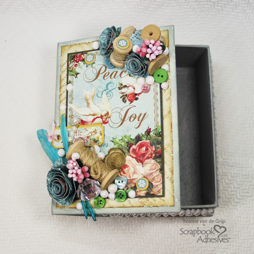 Christmas Keepsake Box by Yvonne van de Grijp for Scrapbook Adhesives by 3L Christmas Inspiration Week with Graphic 45