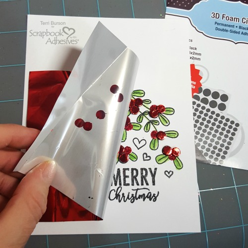 Decorative Stamped Christmas Card by Terri Burson for Scrapbook Adhesives by 3L