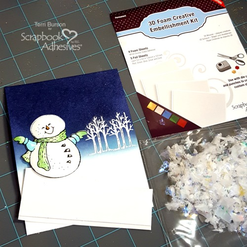 Snow Flurry Card by Terri Burson for Scrapbook Adhesives by 3L