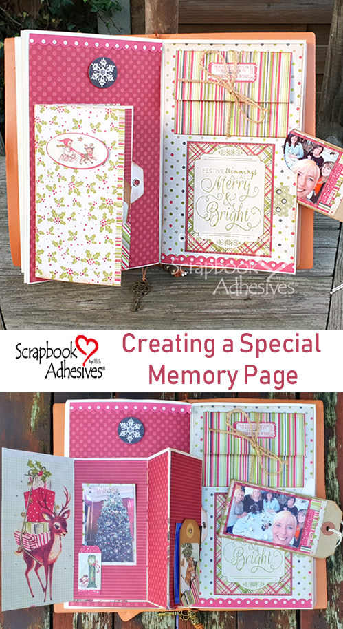 A Special Memory Page by Christine Emberson for Scrapbook Adhesives by 3L Pinterest