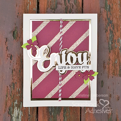 DIY Gold Background Tutorial by Christine Emberson for Scrapbook Adhesives by 3L