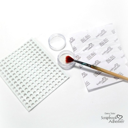 Cross-Stitch Art with 3D Foam Circles Negatives by Dana Tatar for Scrapbook Adhesives by 3L