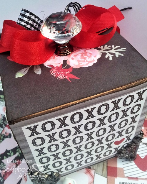 Valentine's Love Note Box by Linsey Rickett for Scrapbook Adhesives by 3L