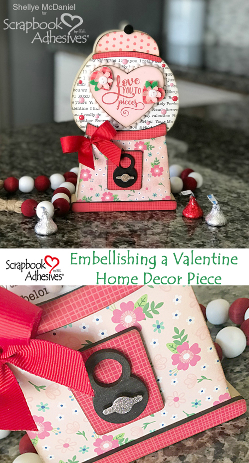 Valentine Home Decor by Shellye McDaniel for Scrapbook Adhesives by 3L Pinterest