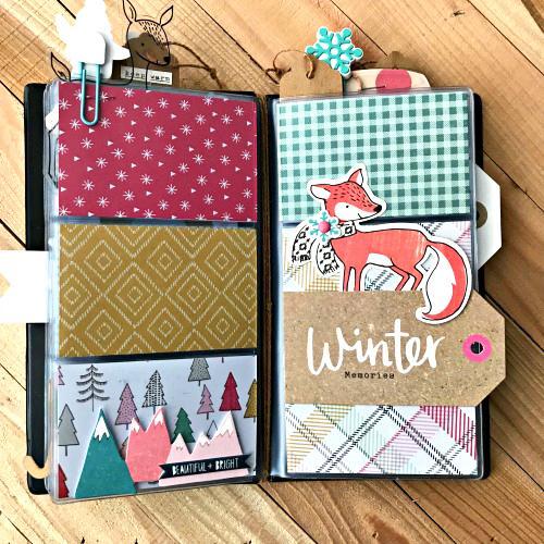 Repurpose a Winter Mini Album by Shellye McDaniel for Scrapbook Adhesives by 3L
