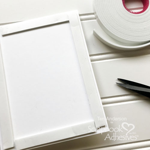 Divided Shaker Card by Teri Anderson for Scrapbook Adhesives by 3L