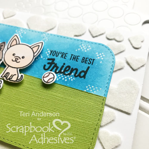 Textured Background Technique by Teri Anderson for Scrapbook Adhesives by 3L