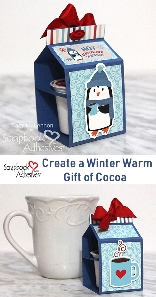 A Winter Warm Gift of Cocoa by Tracy McLennon for Scrapbook Adhesives by 3L Pinterest