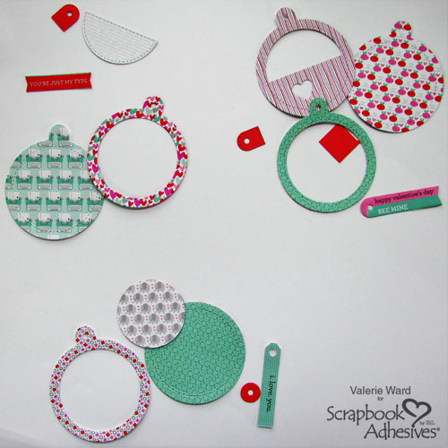 A Trio of Valentine's Day Tags by Valerie Ward for Scrapbook Adhesives by 3L