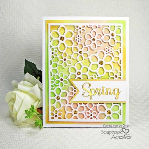 Dimensional Spring Card Tutorial by Yvonne van de Grijp for Scrapbook Adhesives by 3L