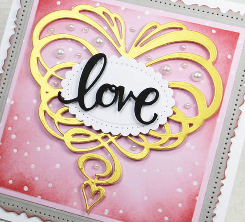 Dimensional Valentine Card…with Love! by Yvonne van de Grijp for Scrapbook Adhesives by 3L