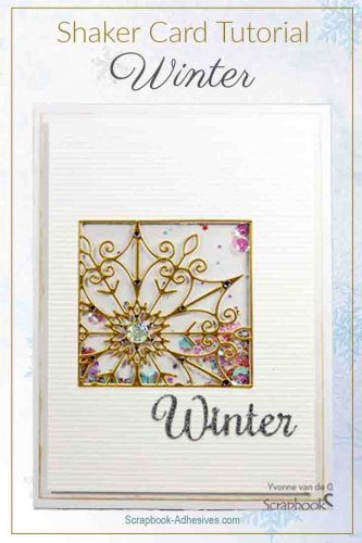 Winter Shaker Card by Yvonne van de Grijp for Scrapbook Adhesives by 3L