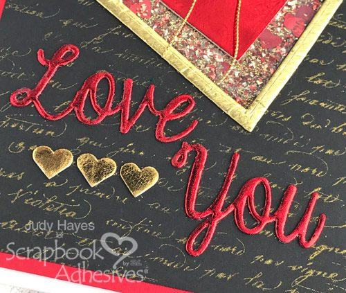 DIY Heart Shaker Card Tutorial by Judy Hayes for Scrapbook Adhesives by 3L