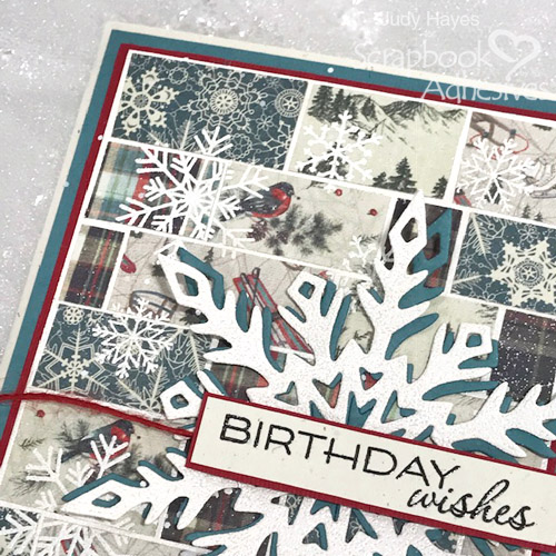 Quilt Inspired Snowflake Birthday Card by Judy Hayes for Scrapbook Adhesives by 3L