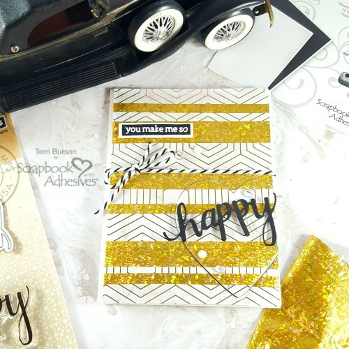 Masculine Foil Striped Valentine by Terri Burson for Scrapbook Adhesives by 3L