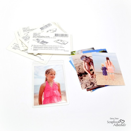 How to insert vacation photos into Self-Laminating Cards