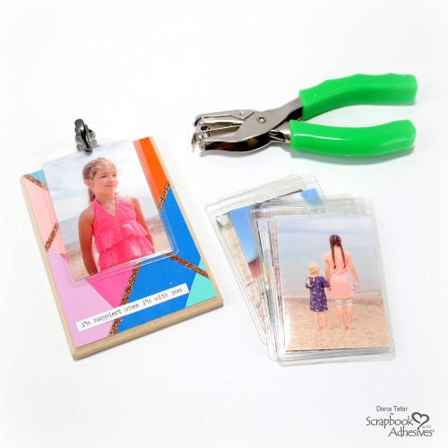 Wood Photo Holder with Self-Laminating Cards by Dana Tatar