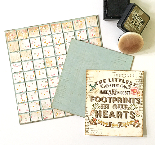 Footprints in our Hearts Mosaic Card Tutorial by Margie Higuchi for Scrapbook Adhesives by 3L