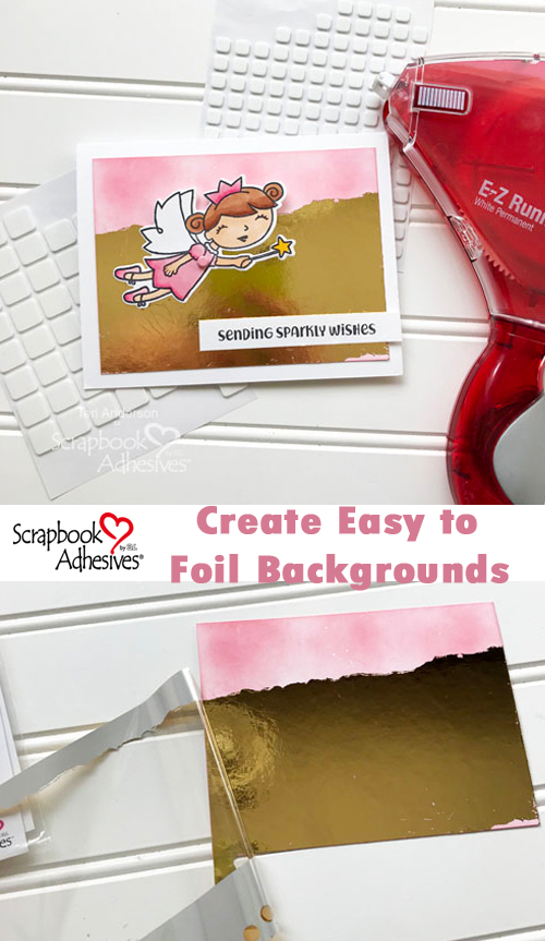 Flying Fairy Card Tutorial by Teri Anderson for Scrapbook Adhesives by 3L Pinterest