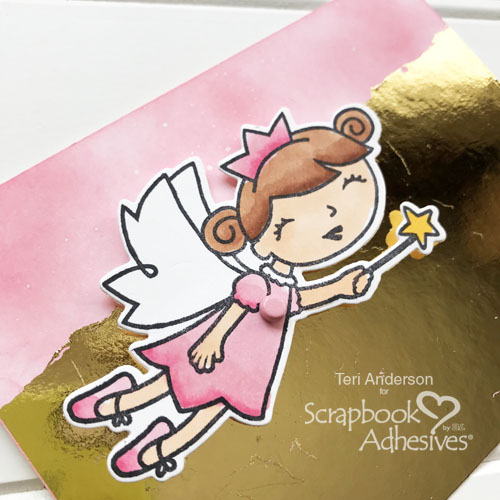 Flying Fairy Card Tutorial by Teri Anderson for Scrapbook Adhesives by 3L