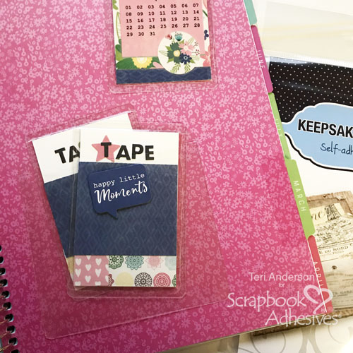 Planner Page Markers and Washi Tape Storage Cards by Teri Anderson for Scrapbook Adhesives by3L