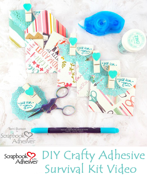Crafty Adhesive Survival Kit by Terri Burson for Scrapbook Adhesives by 3L Pinterest