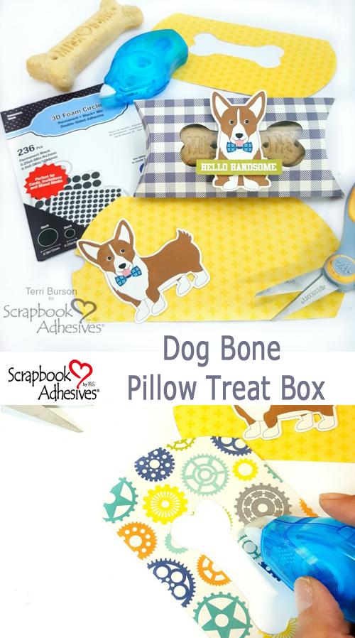 Pillow Box Dog Bone Treat Boxes by Terri Burson for Scrapbook Adhesives by 3L Pinterest