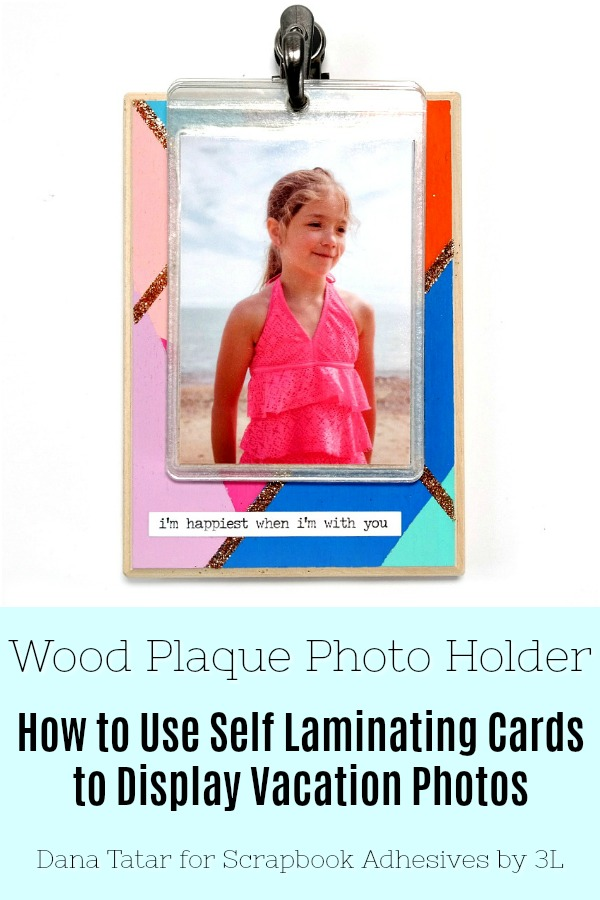 Wood Photo Holder with Self-Laminating Cards by Dana Tatar Pinterest