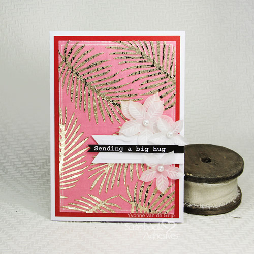 Golden Leaves Card Tutorial by Yvonne van de Grijp for Scrapbook Adhesives by 3L