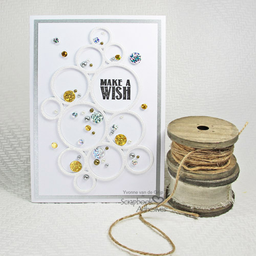 Glittered Card with 3D Foam Sheets by Yvonne van de Grijp for Scrapbook Adhesives by 3L