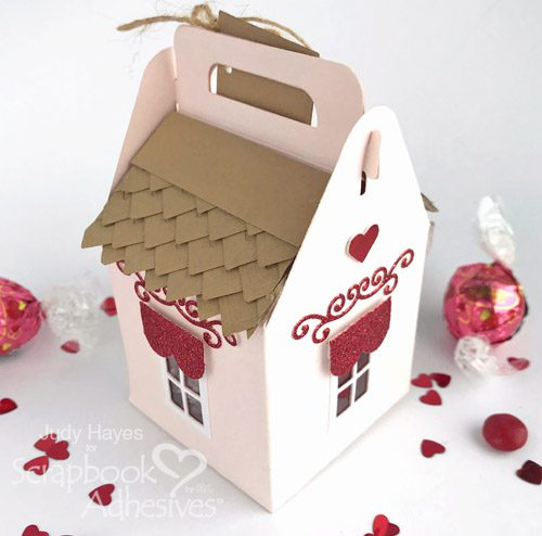 Sweet Shoppe Valentine's Treat Box Tutorial by Judy Hayes for Scrapbook Adhesives by 3L