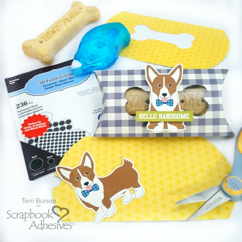 Pillow Box Dog Bone Treat Boxes by Terri Burson for Scrapbook Adhesives by 3L