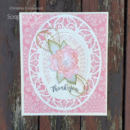 Mother's Day Thank You Card by Christine Emberson for Scrapbook Adhesives by 3L