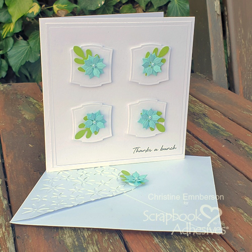 A Clean and Simple Thank You Card Tutorial by Christine Emberson for Scrapbook Adhesives by 3L