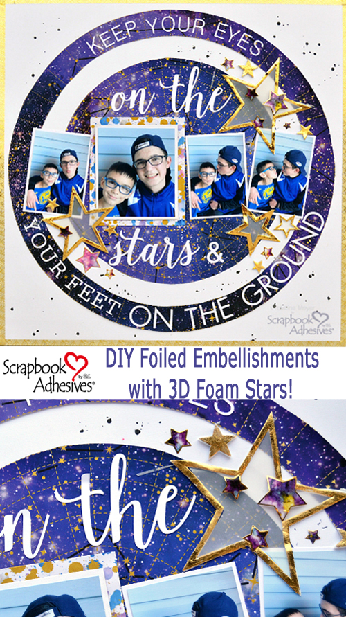 3D Foam Stars Scrapbook Layout by Christine Meyer for Scrapbook Adhesives by 3L Pinterest