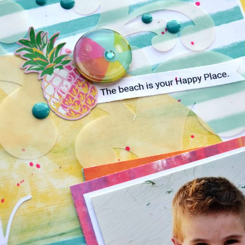 Hello Ocean Beach Scrapbook Layout by Christine Meyer for Scrapbook Adhesives by 3L