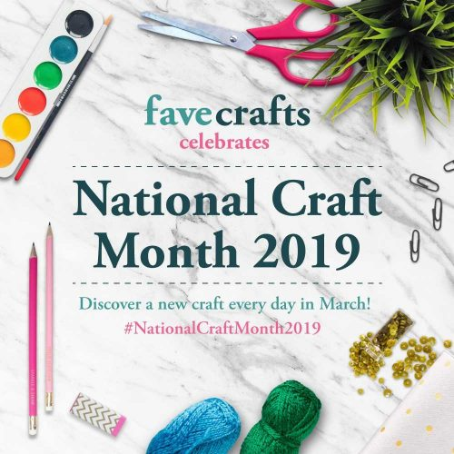 National Craft Month 2019 with FaveCrafts Giveaway Logo