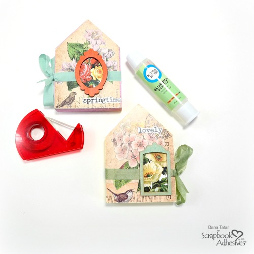 Garden House Wood Block Decor by Dana Tatar for Scrapbook Adhesives by 3L